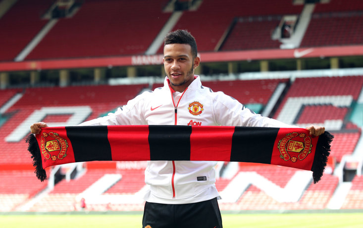 Memphis Depay spent just 18 months at Manchester United.