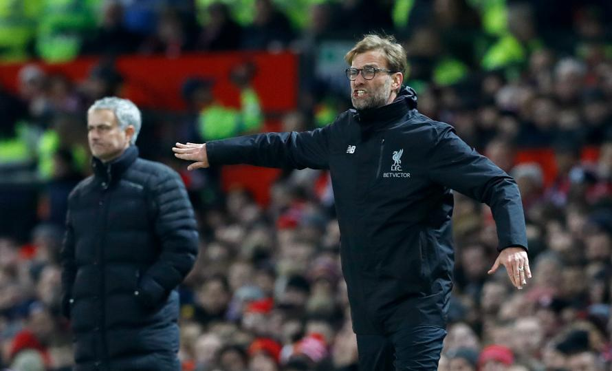 Liverpool boss Jurgen Klopp will pit his wits against Manchester United's Jose Mourinho again this weekend