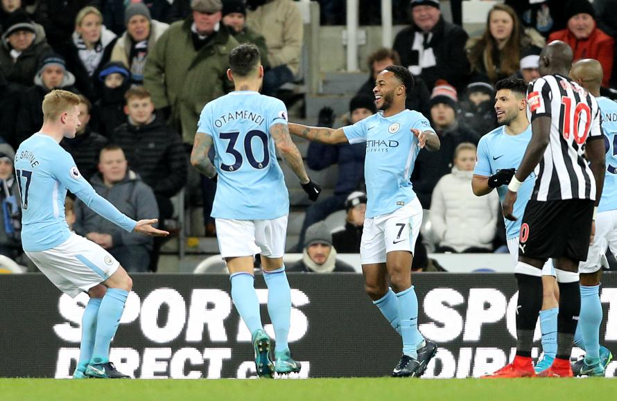 Image result for raheem sterling newcastle 0-1 man city
