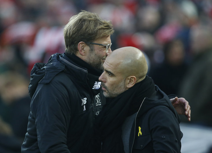 Jurgen Klopp and Pep Guardiola look set to take the 2018/19 Premier League title race down to the wire