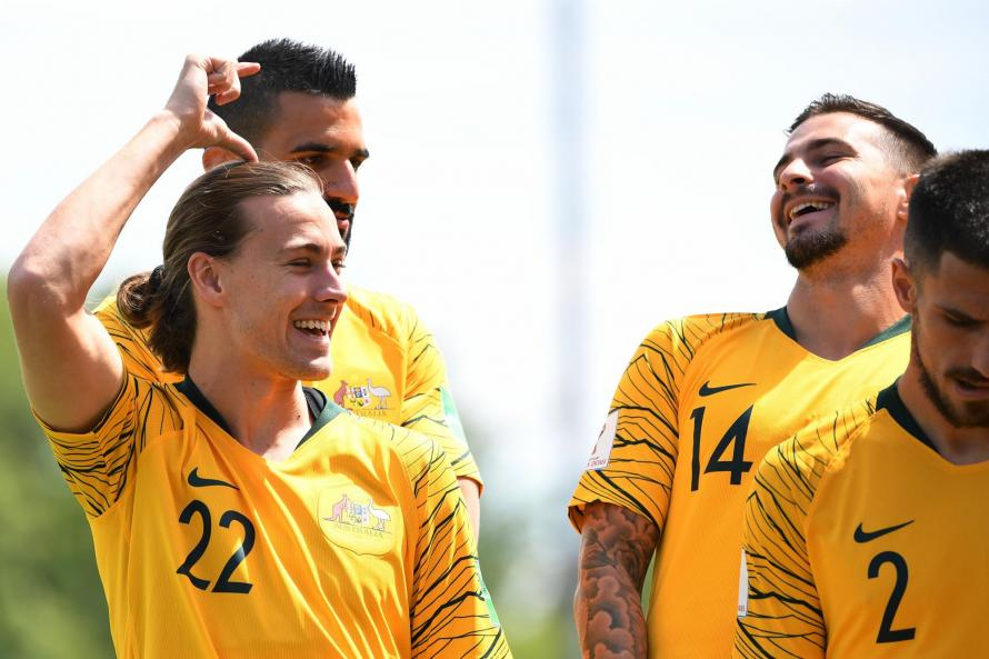 Hull City's Australian star Jackson Irvine (left) has talking ahead of the World Cup