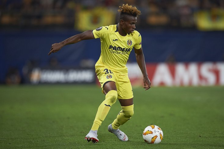 Samuel Chukwueze of Villareal has been in impressive form since forcing his way into the first team