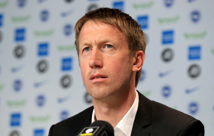 Graham Potter is the new man in the dugout for the Seagulls.