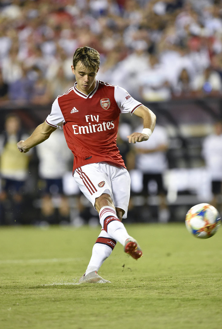 Burton in International Champions' Cup action for Arsenal
