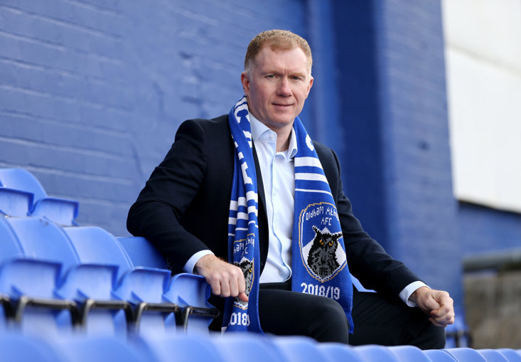 Scholes lasted just over a month at Oldham...