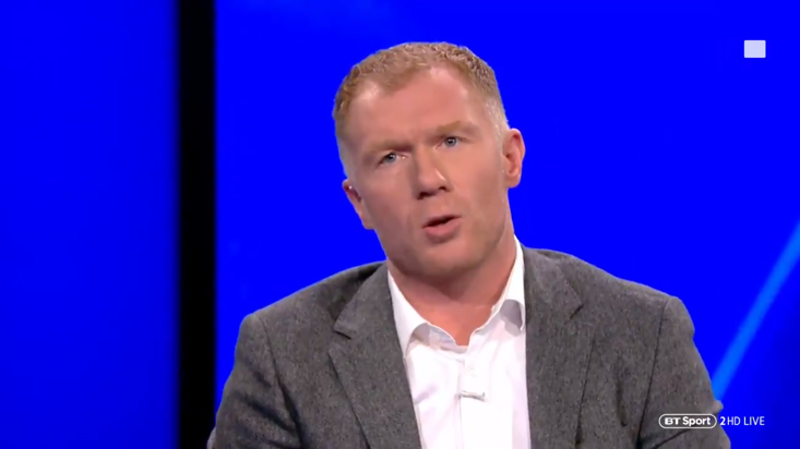 Scholes is not sitting on the fence tonight