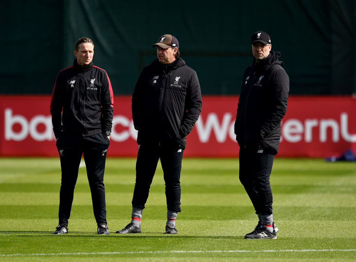 LEFT TO RIGHT: PEP LIJNDERS, PETER KRAWIETZ AND JURGEN KLOPP