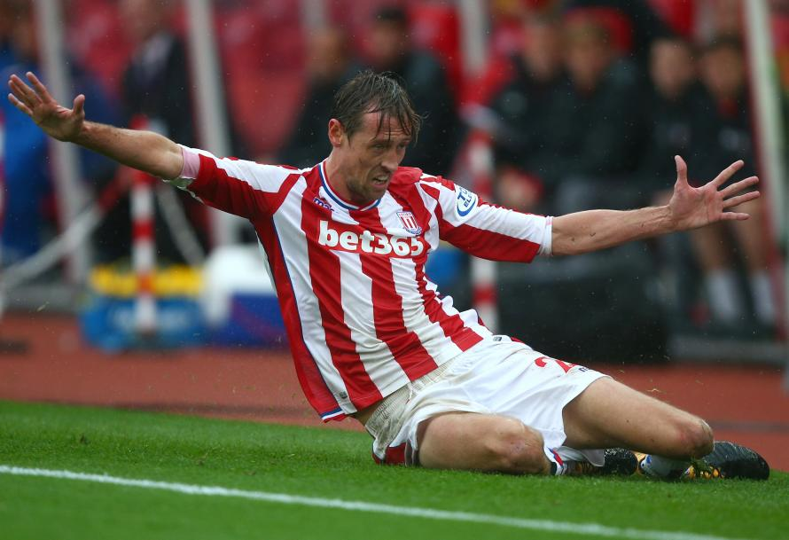 Crouch in action for the Potters