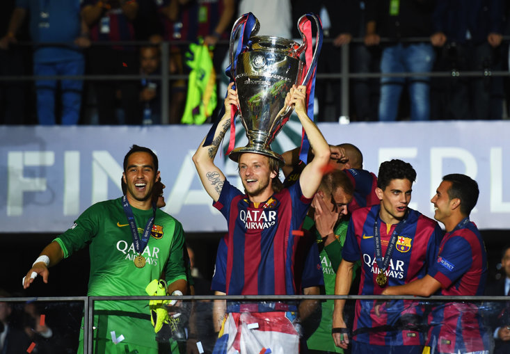 Rakitic Has won 13 trophies during his spell in Catalan