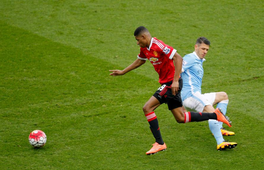 Rashford is at his best flying down the wing