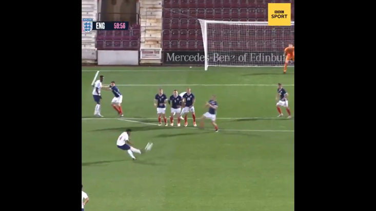 Warriors hopeful scores fantastic goal for England