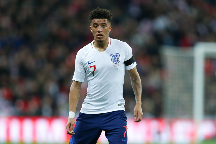 Jadon Sancho made his full competitive England debut against the Czech Republic this month.