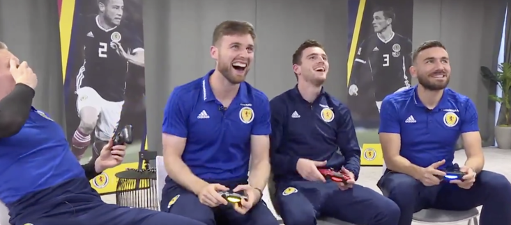 The Scotland team were in good spirits ahead of their international fixtures this coming week