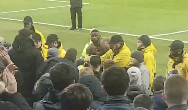 Rudiger went over to the Chelsea fans at full-time