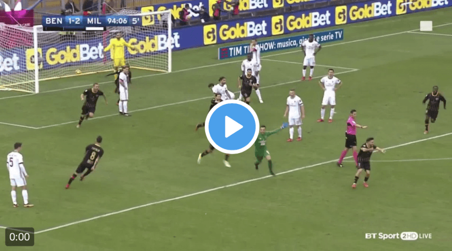 Goalkeeper scores last-minute diving header for team's first point of season