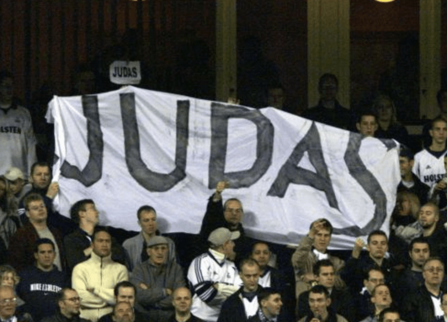 0e3de10769ef4 Spurs fans make their feelings about their former player Sol Campbell known  during a game in