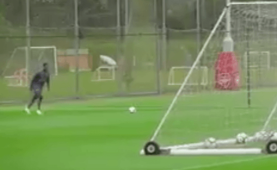 Danny Welbeck produced an amazing bit of skill in training for Arsenal