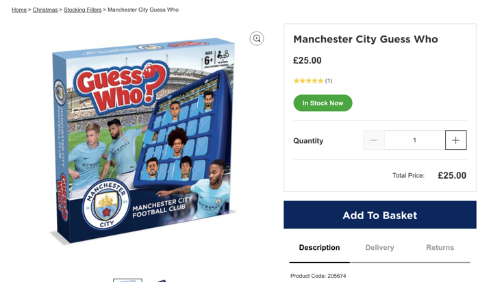 The Manchester City version of Guess Who