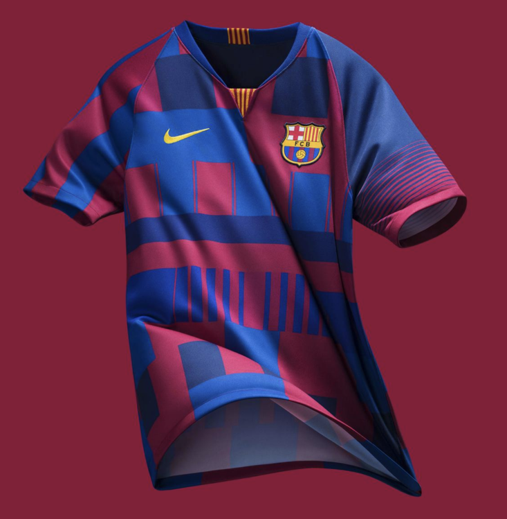 133eedeab58 We re In Love With Nike s Stunning Barcelona Mash Up Shirt
