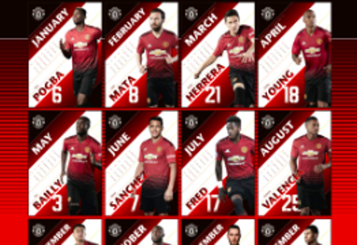 The Manchester United Calendar for 2019 is missing a key player