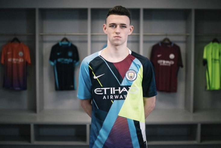 Manchester City's newly unveiled mash up shirt