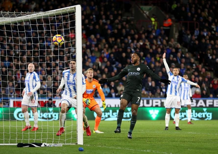 Late Sterling Goal Secures Man City Win Over Huddersfield