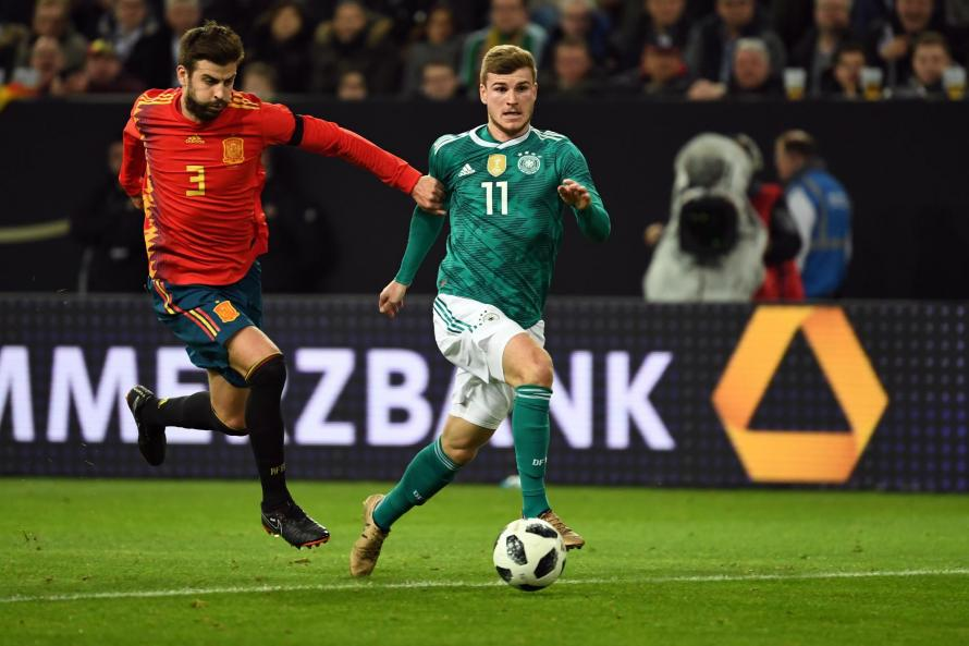 Timo Werner scored a stunning goal for Germany last night in their 2-2 draw with Holland