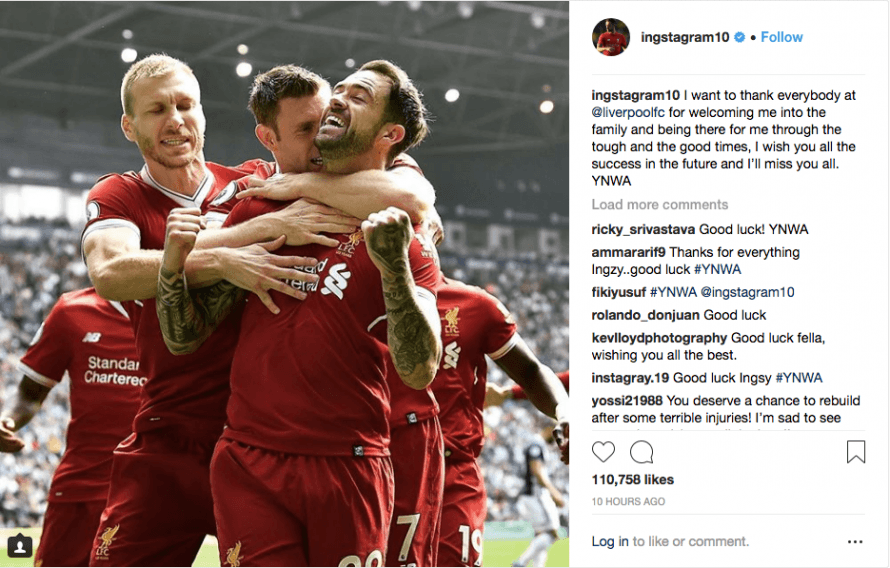 Ings Pays Tribute To Liverpool