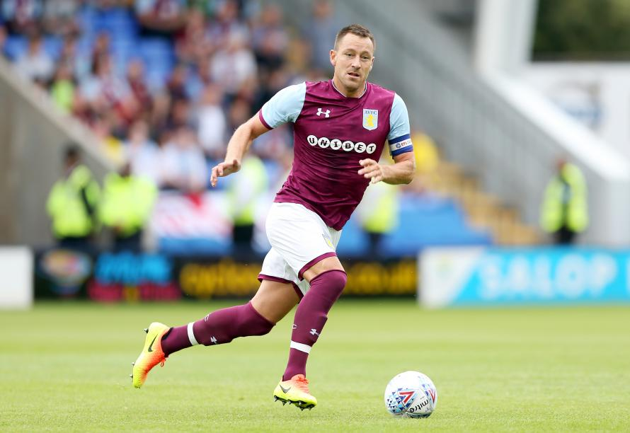 Terry playing in the Villa colours last season