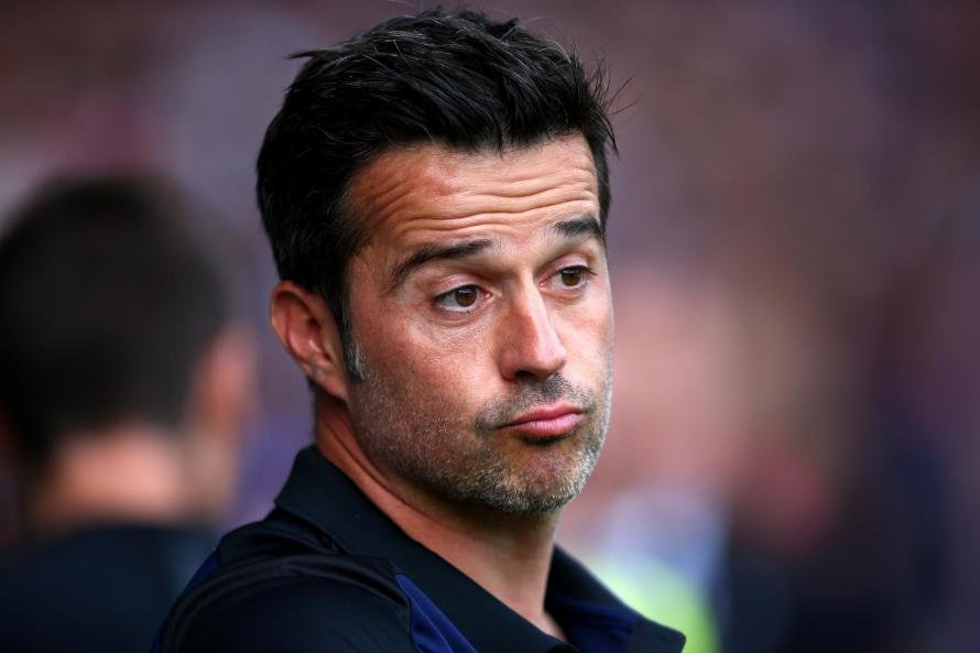 Marco Silva has so far recorded a lower points tally than his predecessor Sam Allardyce