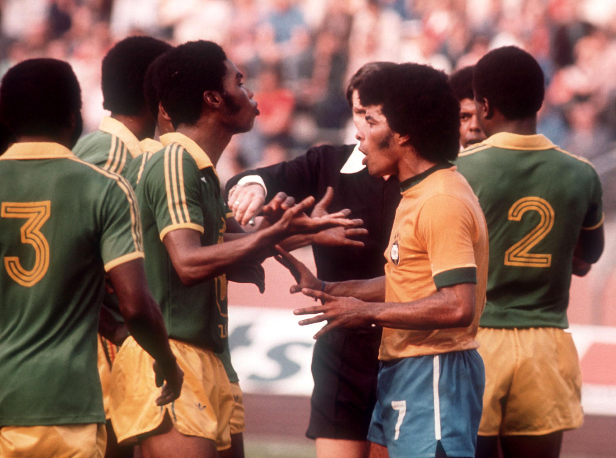 ЧМ-1974. Заир - Бразилия, курьезный штрафной
