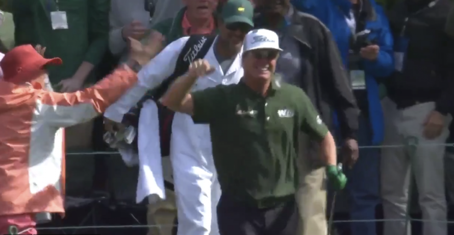 Charley Hoffman Hits Hole In One On The 16th at the Masters