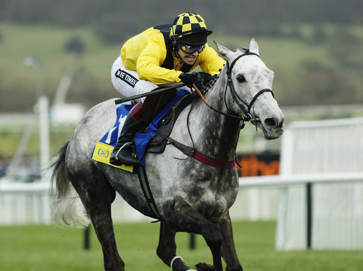 Jockey Richard Johnson and Rooster Booster at Cheltenham in 2003