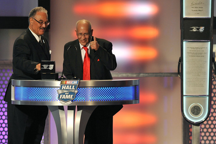 Franklin Scott and Wendell Scott Jr., sons of Wendell Scott at the NASCAR Hall Of Fame