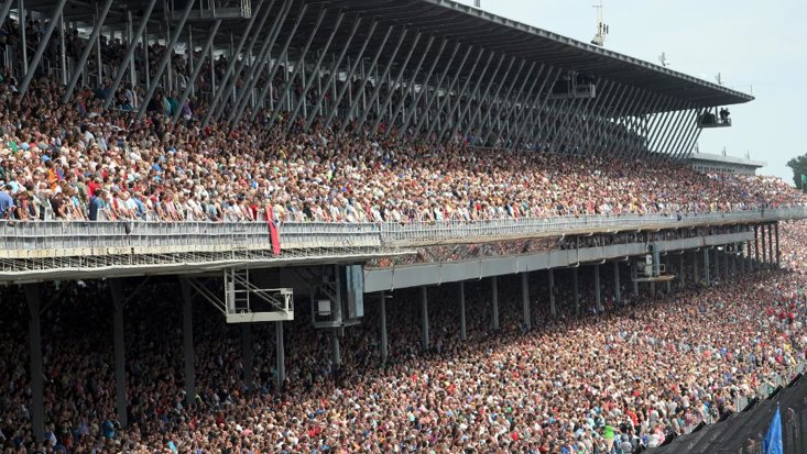 The Indianapolis Motor Speedway is a 250,000 seat behemoth