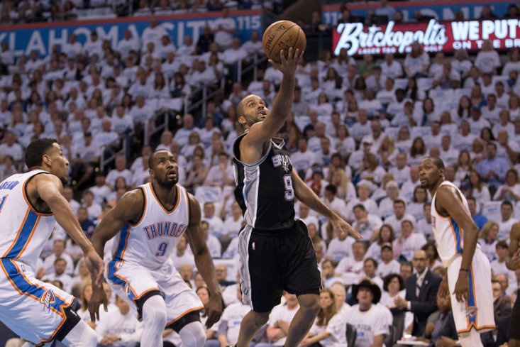 Tony Parker in action for the San Antonio Spurs, Getty Images