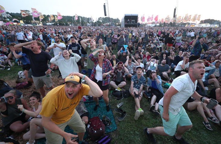 Kylie Minogue enthralls the crowd at Glastonbury 14 years after cancer battle