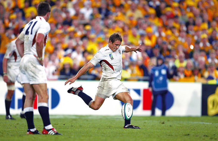 IT IS 17 YEARS SINCE WILKINSON'S FAMOUS DROP GOAL SET A NEW BAR FOR ENGLAND