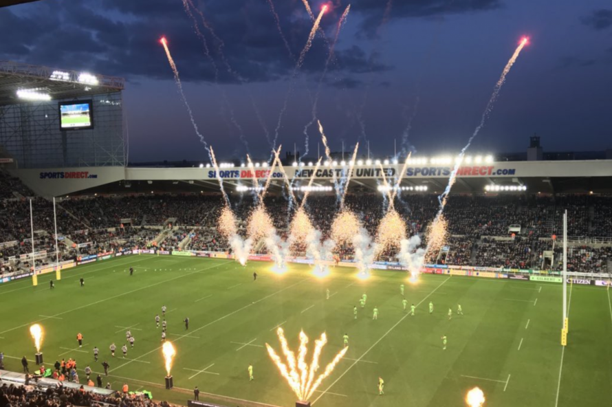newcastle falcons break club record attendance at st james park