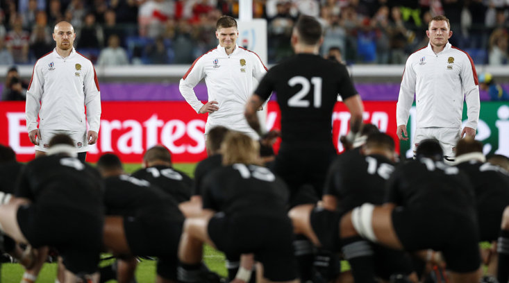 OWEN FARRELL'S MEMORABLE SMIRK AT THE 2019 RUGBY WORLD CUP