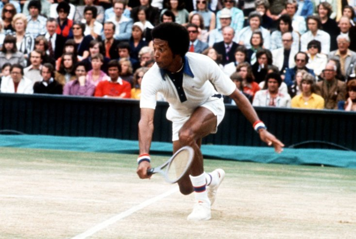 Arthur Ashe stunned Jimmy Connors to win Wimbledon in 1975
