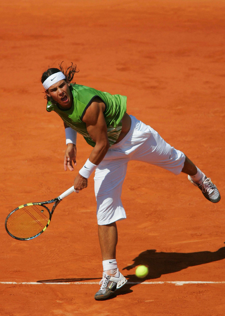 Nadal became the first teenager since Pete Sampras in 1990 when he won the French Open in 2005 (Getty Images)