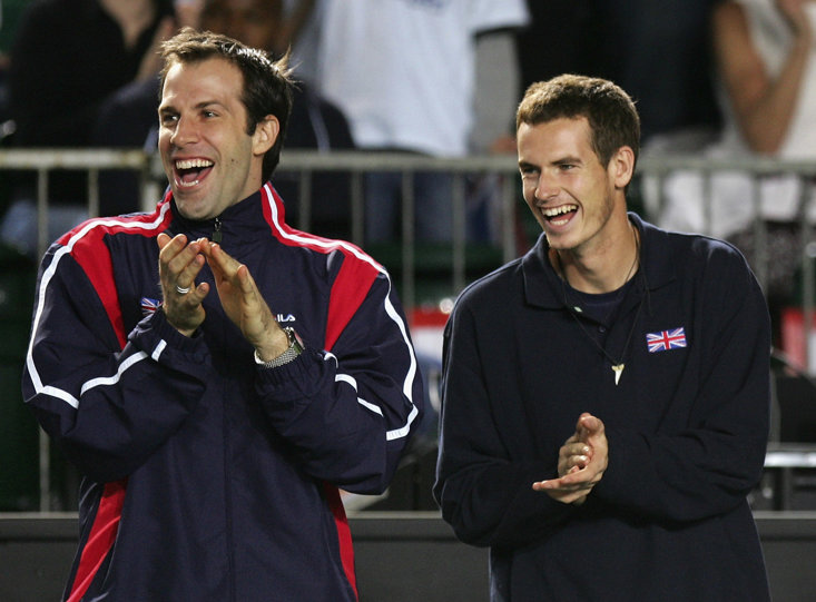 Rusedski and Murray At The Davis Cup in 2007