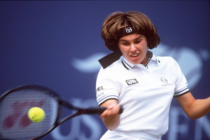 Martina Hingis en route to winning the 1997 US Open