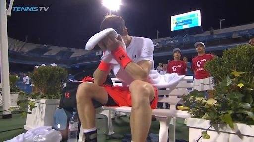 Andy Murray Cries Into His Towel Following Emotional Win In Washington